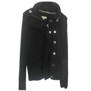 Burberry Black Wool Bomber Jacket