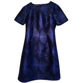 Alberta Ferretti Blue/Black Printed Dress