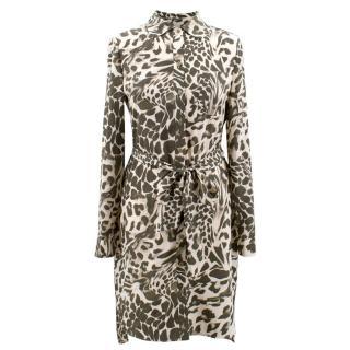 Diane von Furstenberg leopard print shirt dress