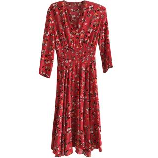 Maje Red/Orange Floral dress