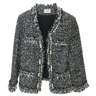 Neiman Marcus Tweed Pearl - Chain - Trim Jacket
