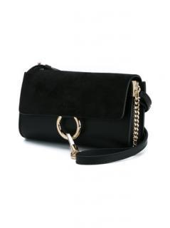 Chloe Black Suede Faye wallet Bag