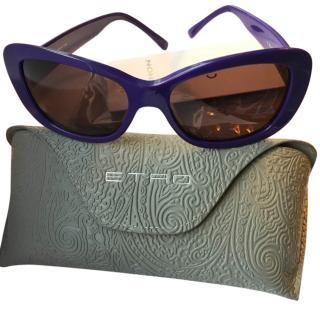 Etro Purple Perspex Sunglasses