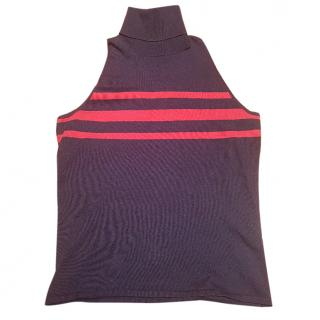 Ralph Lauren Roll Neck/Polo Navy and Red Top