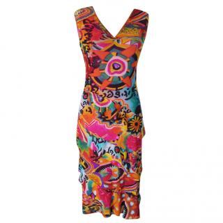 Kenzo multi coloured mesh dress