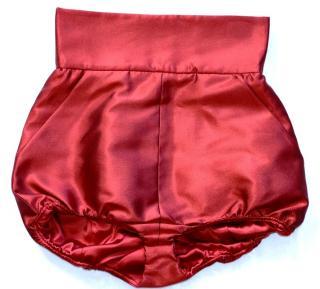Dolce and Gabbana runway  red high-waisted  silk satin shorts