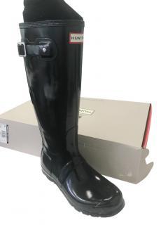 Hunter Original tall Boots Glossy Black - With Box