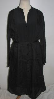 Gerard Darel Black Silk Dress