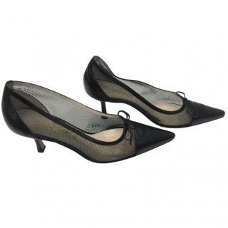 Chanel Black Kitten Heels