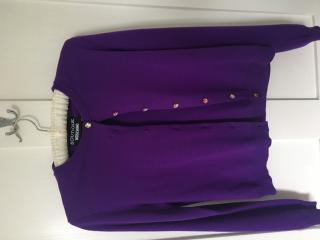 Boutique Moscino Purple Cardigan