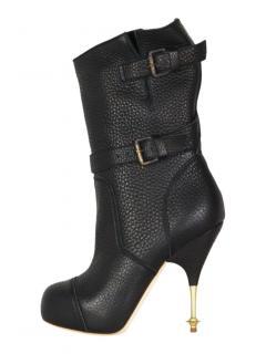Vivienne Westwood leather black biker boots