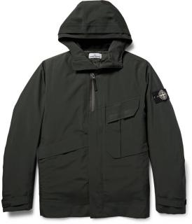 Stone Island Tank Shield black jacket with removable down lining