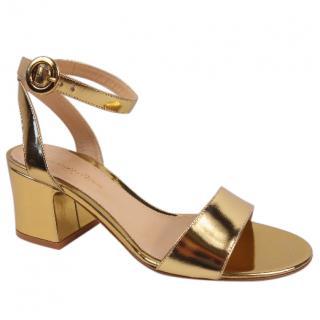 Gianvito Rossi Gold Sandals