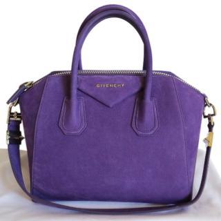 Givenchy Antigona Small Purple Suede Bag