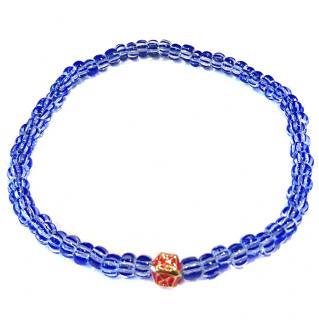 Luis Morais 14ct Gold Mini blue bead bracelet RRP �167.00