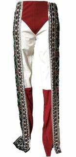Gianfranco Ferre stretch emroidered trousers