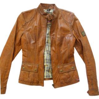 Bel staff Tan Leather Biker Jacket