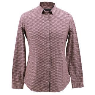 Burberry Burgundy Printed Shirt