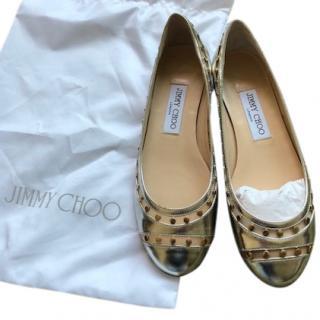 Jimmy Choo silver flats
