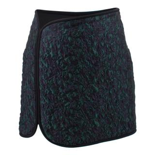 Phillip Lim Green and Navy Textured Skirt