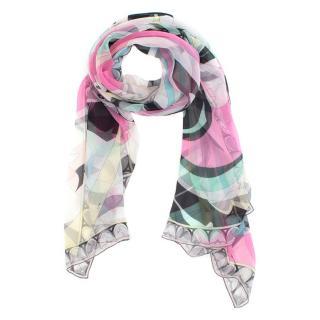 Emilio Pucci Multicoloured Silk Blend Scarf