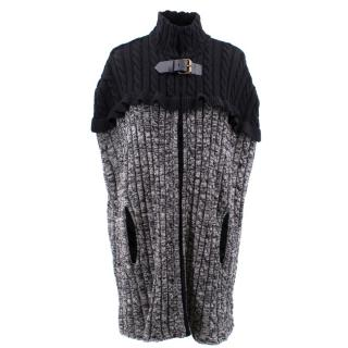 Philosophy Di Lorenzo Serafini Wool Cable Knit Cape