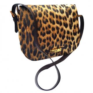 Moschino by Redwall Leopard Print Shoulder bag .