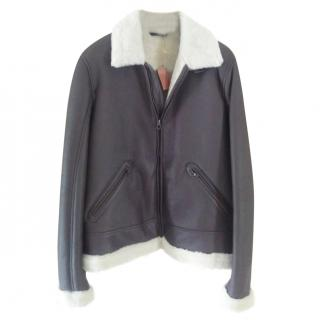 Loro Piana leather flying jacket never worn still with tags.