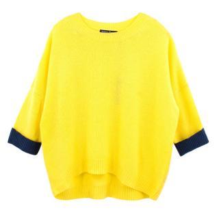 Tabitha Webb neon yellow cashmere jumper