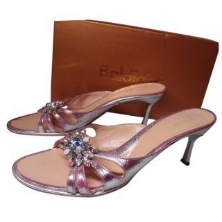 Baldinini heeled metallic sanda