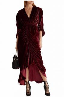 Preen by Thornton Bregazzi velvet burgundy runway dress