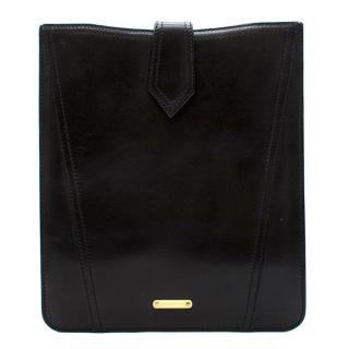 Burberry Black Leather iPad Case