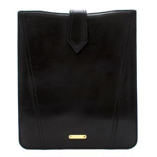 Burberry Black Leather iPad Case