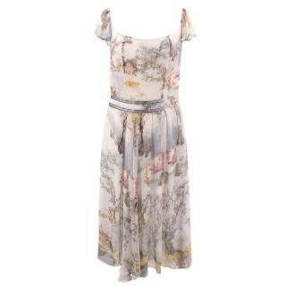 Kenzo printed silk dress