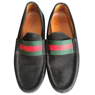 Gucci  black suede Loafers