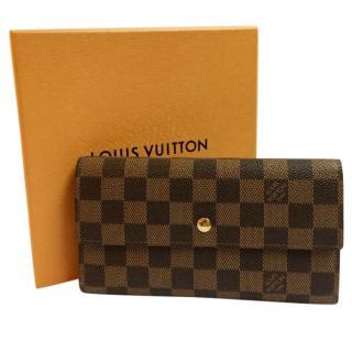 Louis Vuitton wallet in Damier Ebene canvas