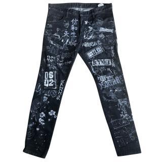 DSquared  graffiiti jeans