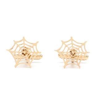 Charlotte Olympia Gold Metal  Spider Web Cufflinks