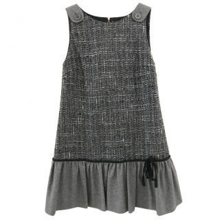 Red Valentiono Grey wool dress