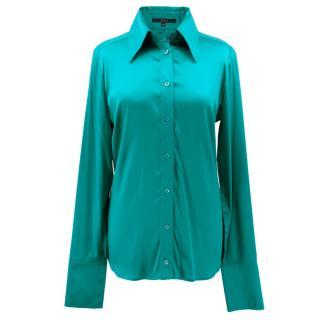 Gucci Green Silk Blouse