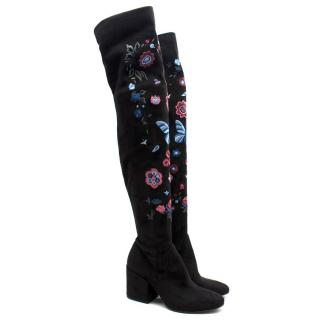 Strategia Floral Thigh Boots
