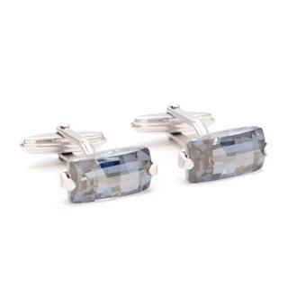 Lanvin crystal rhodium-plated cufflinks