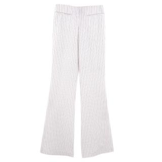Malene Birger striped wide-leg trousers
