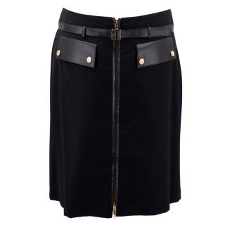 Gucci Black Belted Skirt