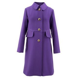 Paul and Joe Purple Wool Coat