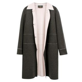 Fendi Grey Wool Coat