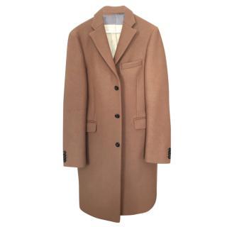 Acne tan dress coat