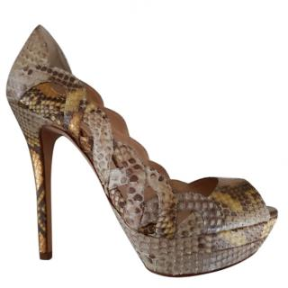 leather shoes. python alexandre birman  5 38