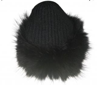 Raccoon Fur & Wool Beanie