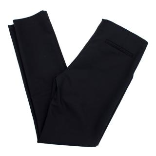 The Row Black Slim Leg Trousers